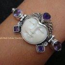 925 Silver & 5 Amethyst Goddess Bracelet GDB-688-KT