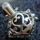Silver Rainbow Moonstone Harmony Ball Pendant 16mm HB-213-KT