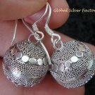 925 Silver Granulated Design Chime Ball Earrings CBE-142-KT