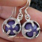925 Silver Purple Chakra Chime Ball Earrings CBE-144-KT