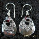 925 Silver & Garnet Traditional Earrings ER-442-NY