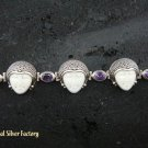 925 Silver Amethyst Goddess Bracelet GDB-675-KT