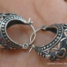 Silver Hoop Earrings SE-132-KT