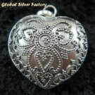 Sterling Silver Heart Chime Ball Pendant CH-290-KT