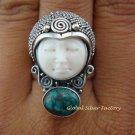 925 Silver Turquoise Goddess Ring GDR-721-KT