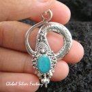 Sterling Silver & Opal Snake Pendant SP-366-NY