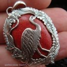 925 Silver Bird & Red Coral Pendant SP-343-KT