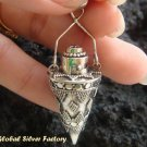 Silver Garnet Essential Oil Bottle Pendant PP-316-KA