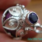 925 Silver Amethyst Purple Harmony Ball Pendant HB-255-KT