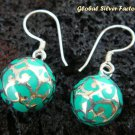 925 Silver & Blue Chime Ball Earrings CBE-132-KA