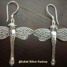 Sterling Silver Dragonfly Earrings SE-130-KT