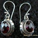 925 Silver & Garnet Earrings ER-439-IKP