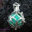 925 Silver Peridot Harmony Ball Pendant HB-119-KT