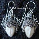Sterling Silver Blue Topaz Goddess Earrings GDE-425-PS
