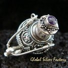 925 Silver & Amethyst Perfume Pendant PP-322-GSF