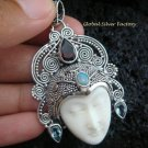 925 Silver Multi Gems Sajen Goddess Pendant GDP-789-PS