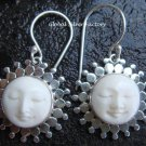 Silver Sunflower Happy Goddess Earrings GDE-388-NY