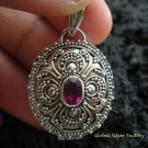 925 Silver & Ruby Oval Locket Pendant LP-174-KT