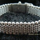 Unisex Sterling Silver 15MM  Chain Bracelet MJ-123-PS