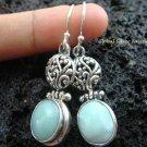 925 Silver Bali Design Larimar Earrings ER-490-NY
