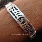 Men's Sterling Silver 10MM Woven Chain Bracelet MJ-121-PS