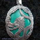 925 Silver Dragon & Turquoise Pendant SP-344-KT