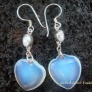 925 Silver CZ & Heart Opalite Earrings SJ-209-GSF