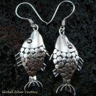 Sterling Silver Fish Earrings SE-102-KA