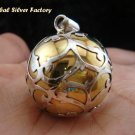 Large 925 Silver & Brass Filigree Chime Ball CH-318-KT