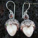 925 Silver & Garnet Goddess Earrings GDE-826-PS