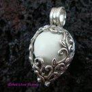 Silver Flower Vine Design Harmony Ball Pendant HB-235-KT