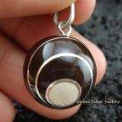 925 Silver Black Swirl Chime Ball Pendant CH-158-KT