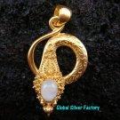 Silver & 22kt Gold Plated Snake Pendant GPP-103-NY