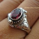 Sterling Silver Garnet Poison Locket Ring LR-156-KT