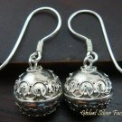 Sterling Silver Balinese Chiming Ball Earrings CBE-129-KT