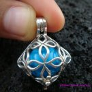 Silver Square Flower Harmony Ball Pendant HB-234-KT