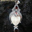 925 Silver & Garnet Gemstone Goddess Pendant GDP-612-KT