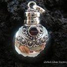 Sterling Silver Garnet Perfume Pendant PP-194-KT