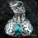 Sterling Silver Turquoise Perfume Pendant PP-237-KT