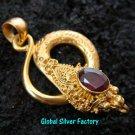 Silver & 22kt Gold Plated Snake Pendant GPP-102-NY