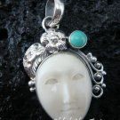 Sterling Silver Turquoise Goddess Pendant GDP-479-NY
