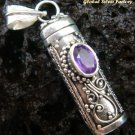 Silver & Amethyst Essential Oil Pendant PP-246-KT