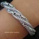 925 Silver Borobudur & Dragon Bone Twisted Bracelet SBB-328-PS