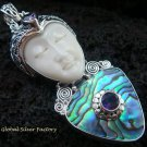 Sterling Silver Paua Shell Goddess Pendant GDP-917-PS