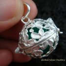 925 Silver 19MM Frangipani Harmony Ball HB-297-PS