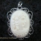 Sterling Silver Lady Cameo Pendant SP-423-KT