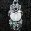 Silver Paua Shell Topaz Goddess Pendant GDP-916-PS