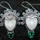 Sterling Silver & Green Quartz Goddess Earrings GDE-907-PS