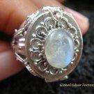 Silver & Moonstone Locket Ring LR-547-KT
