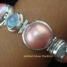 925 Silver 5 Pearls & 4 Moonstone Designer Bracelet SBB-319-KT
